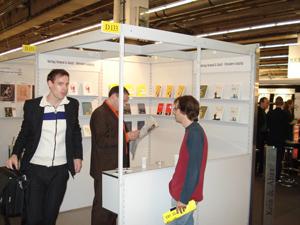 Buchmessestand Voland & Quist