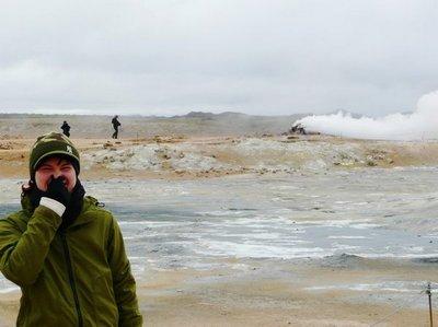 Kirsten am Myvatn auf Island