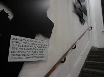 Die Alois Nebel Ausstellung im Literaturhaus Stuttgart (Treppenhaus)