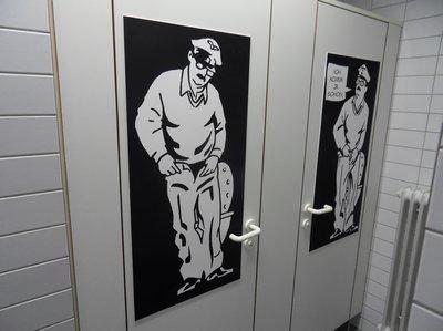 Die Alois Nebel Ausstellung im Literaturhaus Stuttgart (Toilette)